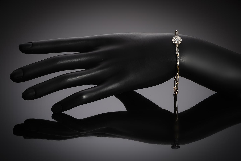 Bracelet diamants fin XIXe – début XXe siècle-2