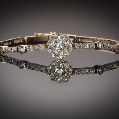 Bracelet diamants fin XIXe – début XXe siècle