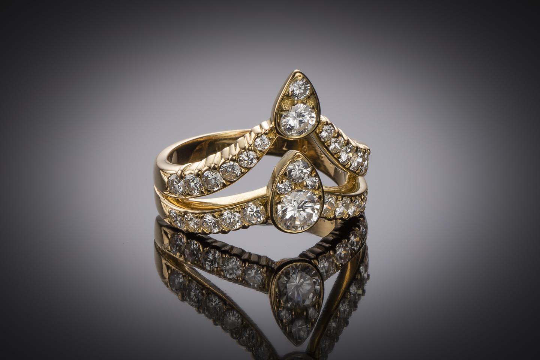 Bague Van Cleef & Arpels diamants vintage-1