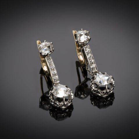 Boucles d'oreilles diamants vers 1900