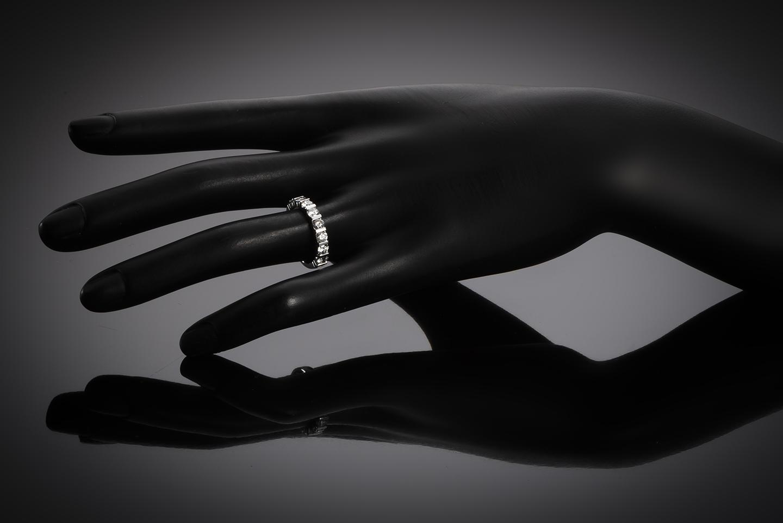 Demi-alliance diamants (Certificat IGI D SI1)-2