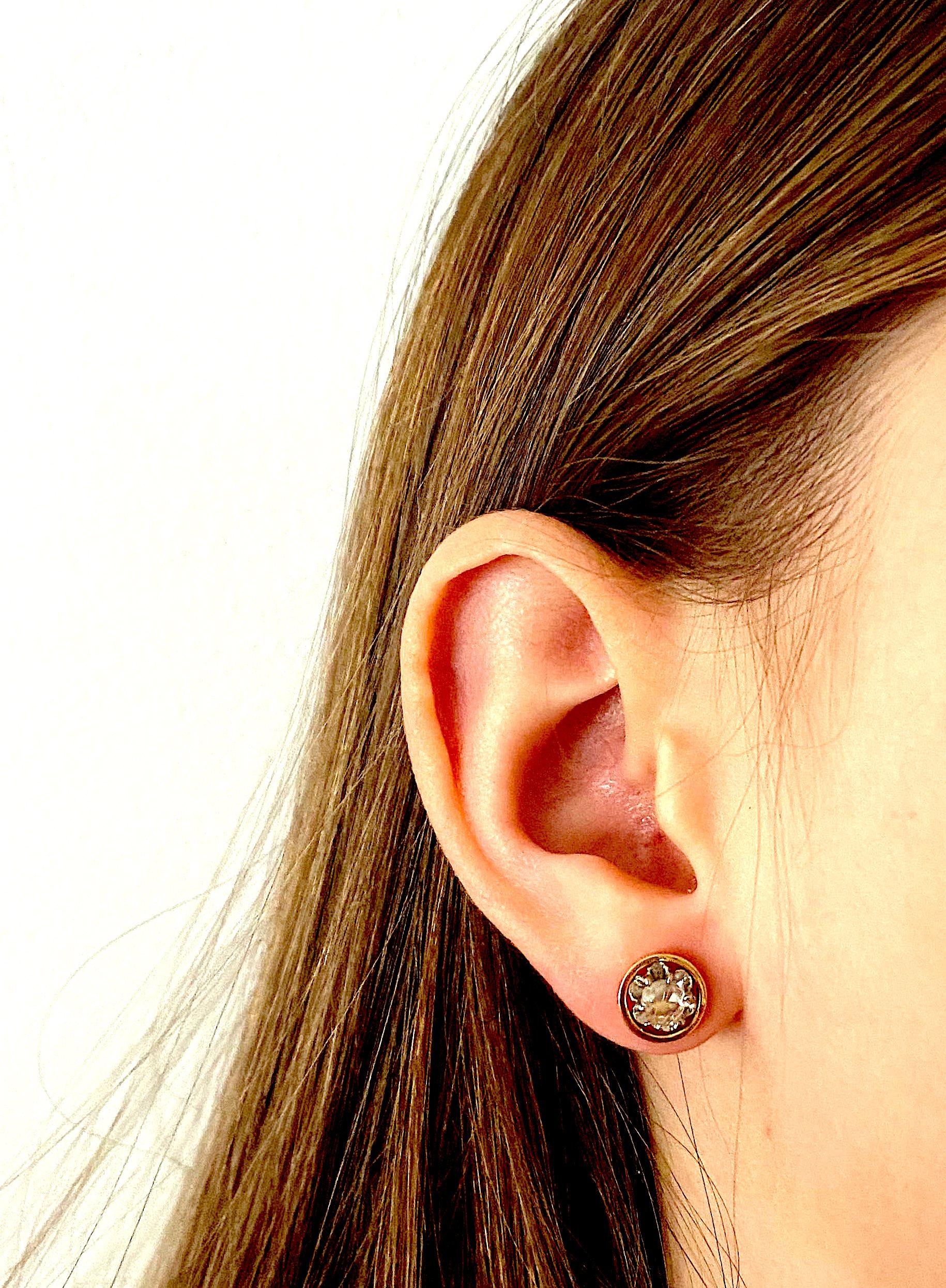 Boucles d'oreilles diamants vers 1920-2