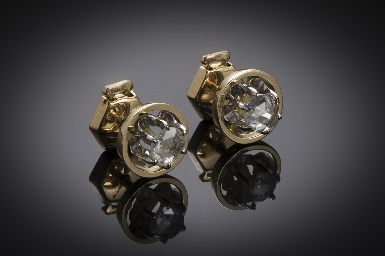 Boucles d'oreilles diamants vers 1920-1