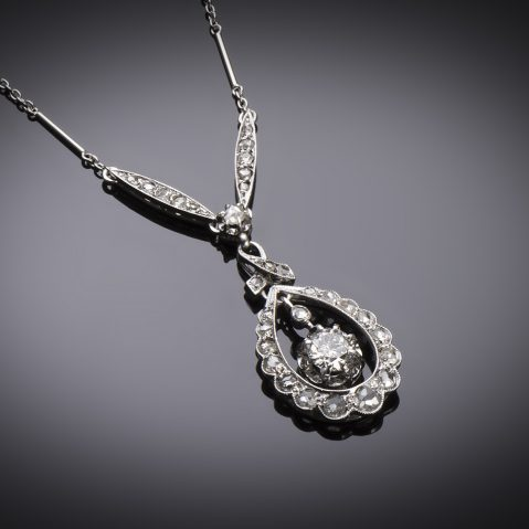 Collier Art Déco diamants (principal 0,40 carat)