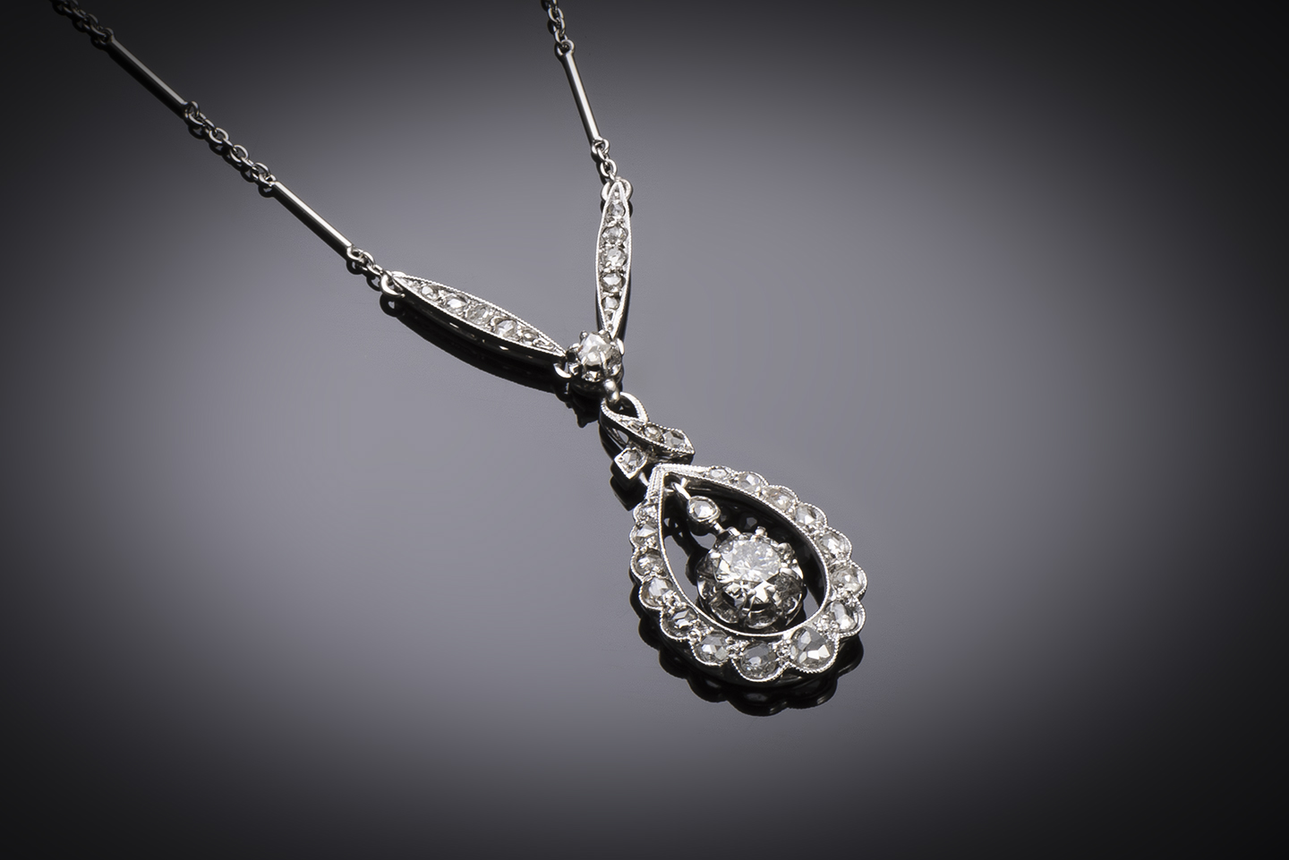 Collier Art Déco diamants (principal 0,40 carat)-1