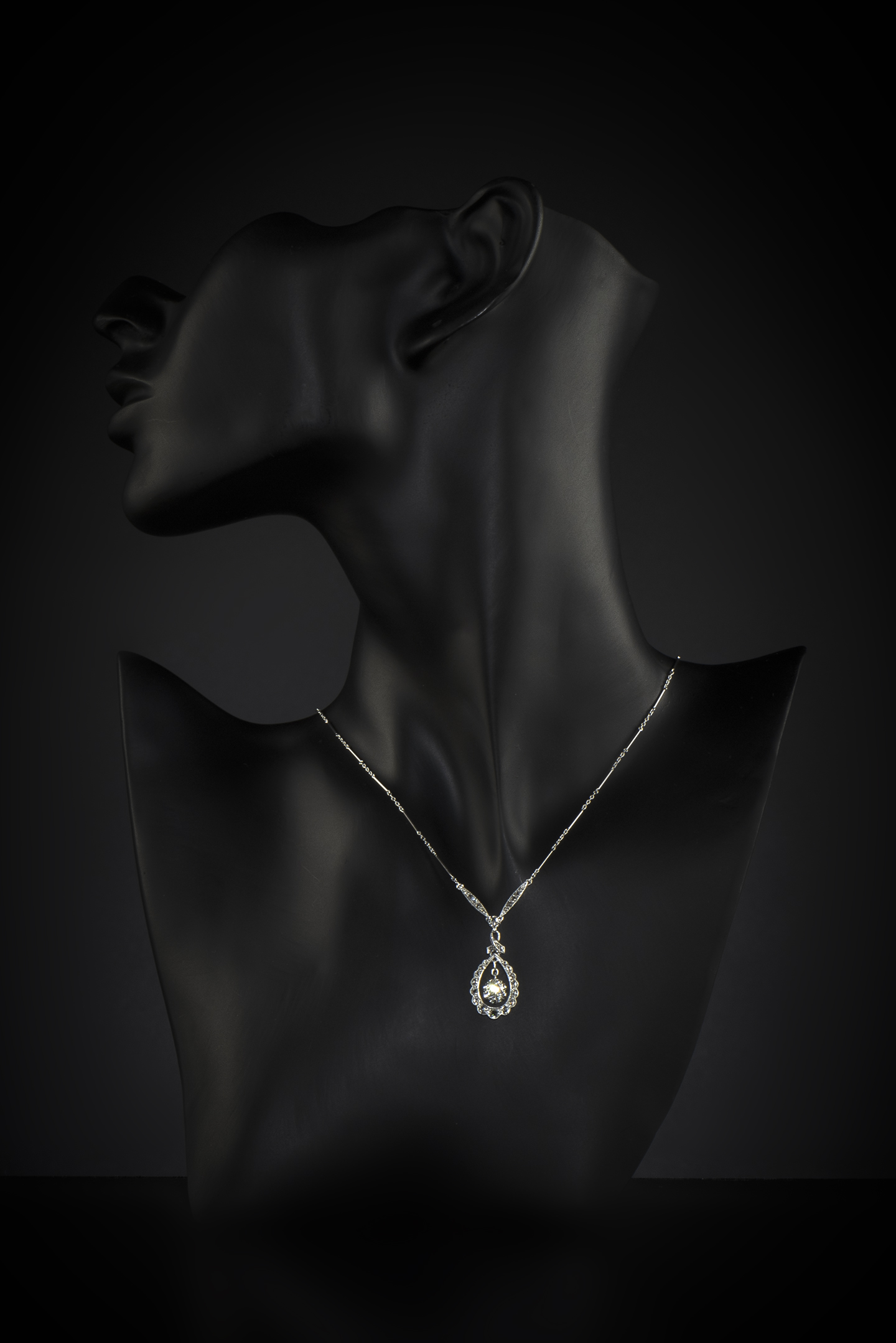 Collier Art Déco diamants (principal 0,40 carat)-2