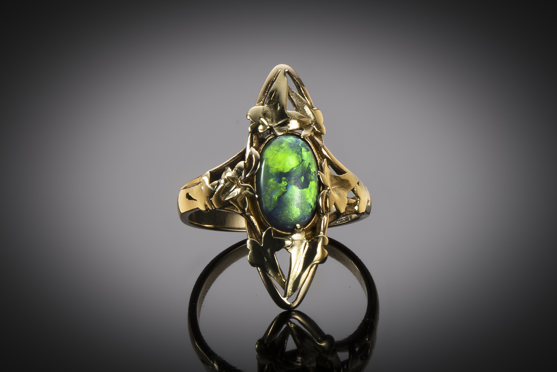 Bague Art nouveau opale-1