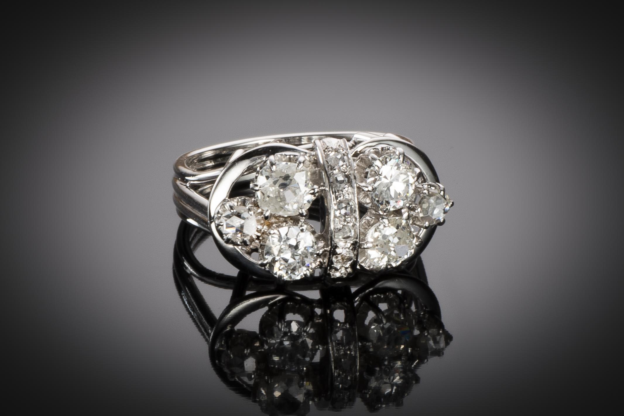 Bague diamants vers 1950-1