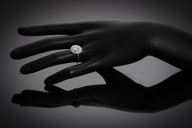 Bague diamants (principal ancienne 1,02 carat) Art Déco-2
