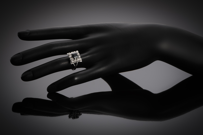 Bague saphir diamants vers 1950 – 1960-2