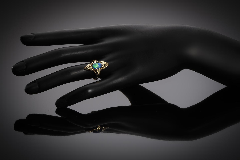 Bague Art nouveau opale-2