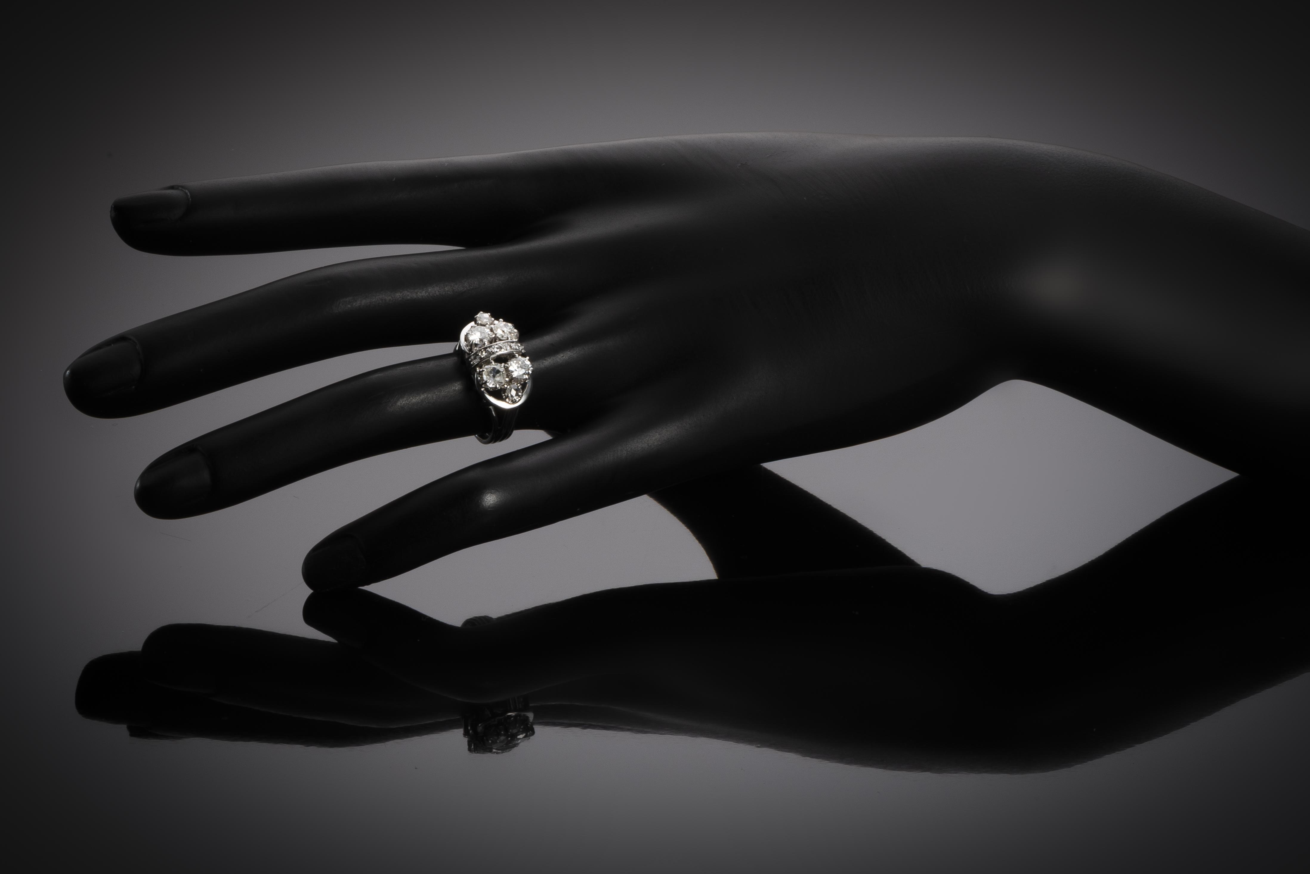 Bague diamants vers 1950-2