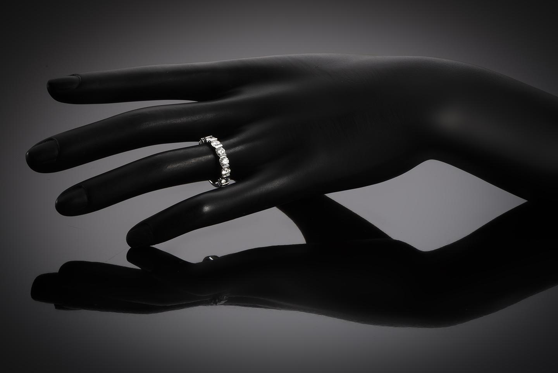 Demi-alliance diamants (E VS1 certificats GIA)-2