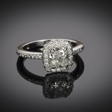 Bague diamant coussin 1,05 carat (certificat GIA – G VS1)