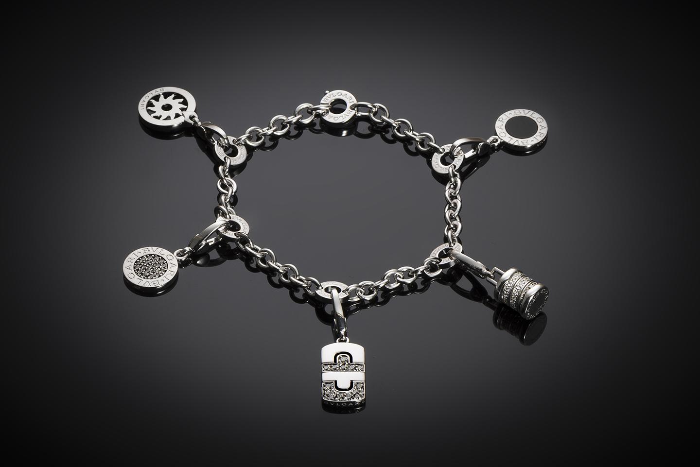 Bracelet Bulgari charm diamants-1