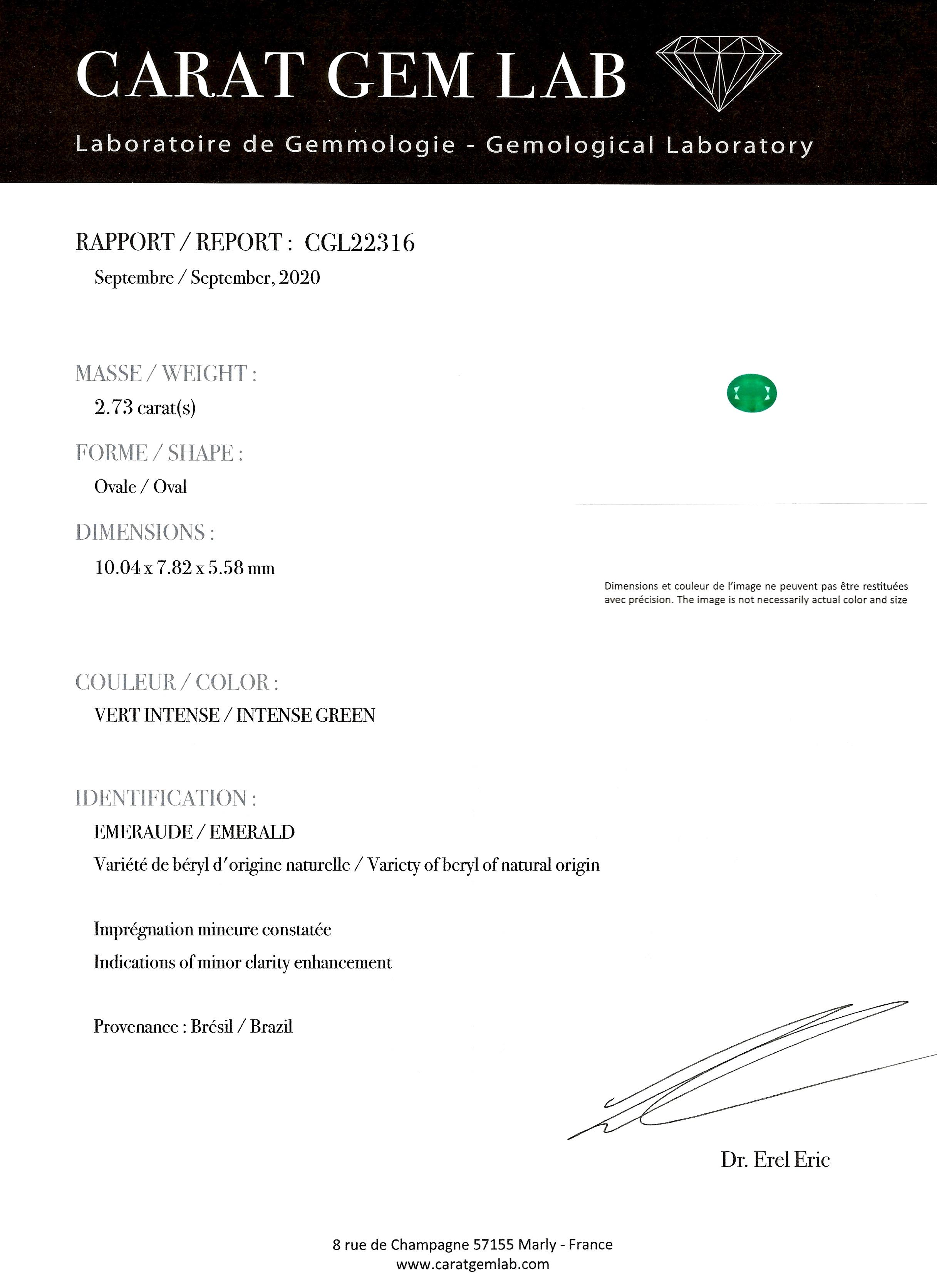 Bague émeraude vert intense (certificat laboratoire) diamants début XXe siècle-5