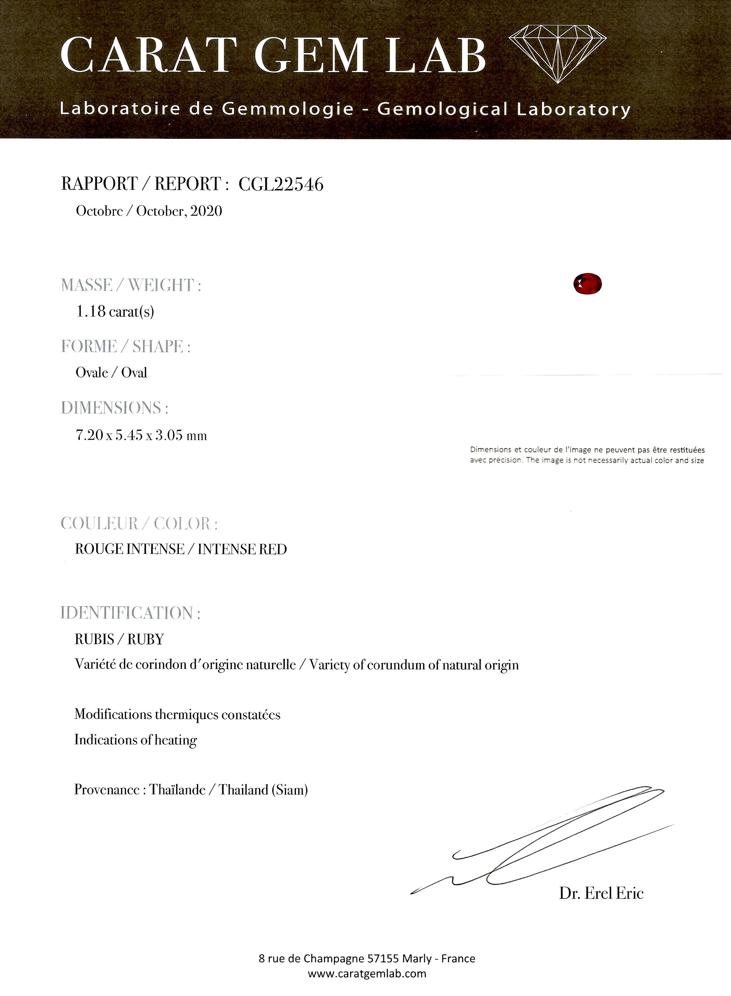 Bague vintage rubis, rouge intense (certificat laboratoire CGL) diamants, vers 1950-4