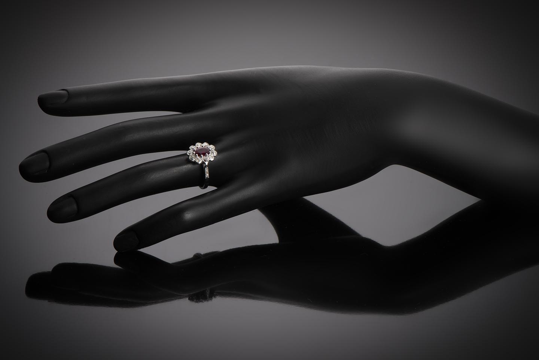 Bague vintage rubis, rouge intense (certificat laboratoire CGL) diamants, vers 1950-3