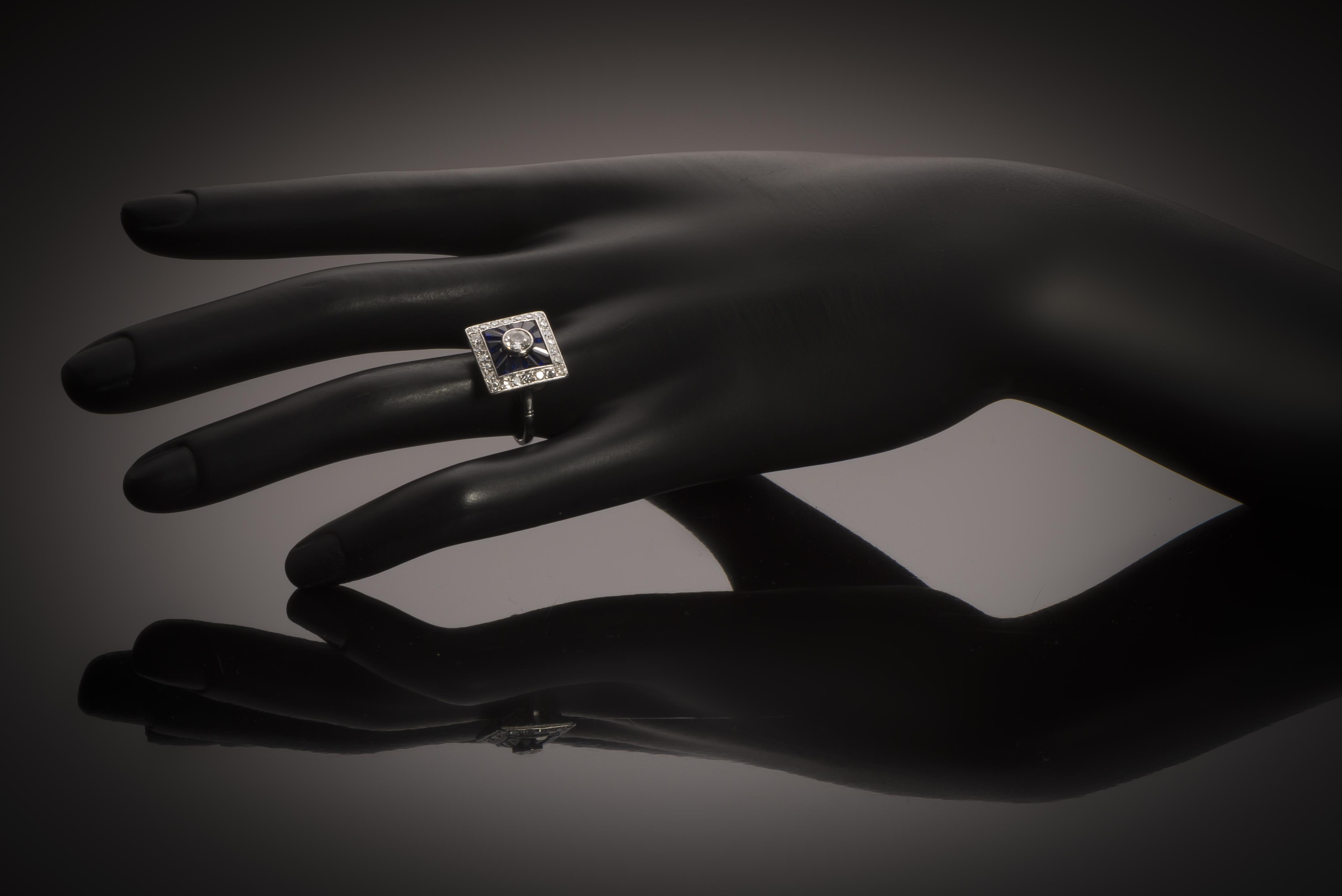 Bague Art Déco diamants-3