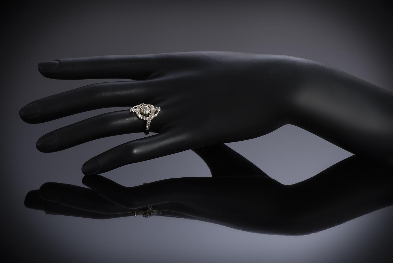 Bague diamants (1,10 carat) fin XIXe siècle-2