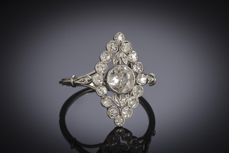 Bague Art Déco diamants (1 carat)-1