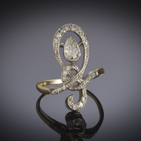 Bague début XXe siècle diamants (1 carat)