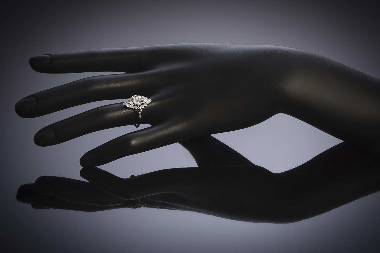 Bague Art Déco diamants (1 carat)-3