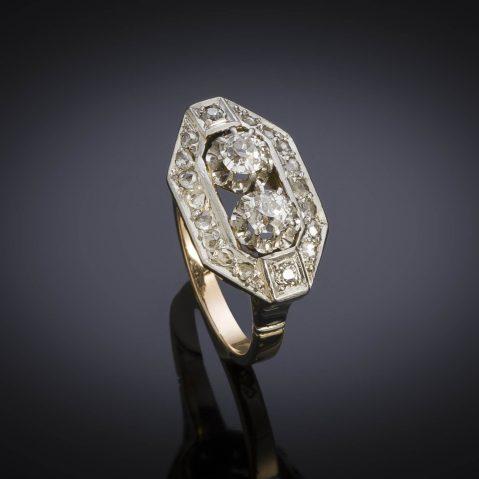 Bague Art Déco diamants (1,10 carat)