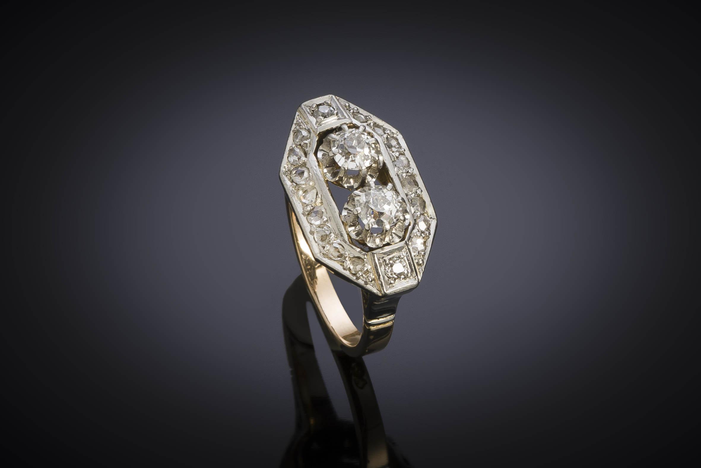 Bague Art Déco diamants (1,10 carat)-1