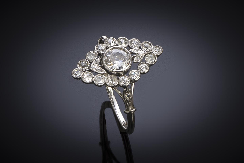 Bague Art Déco diamants (1 carat)-2