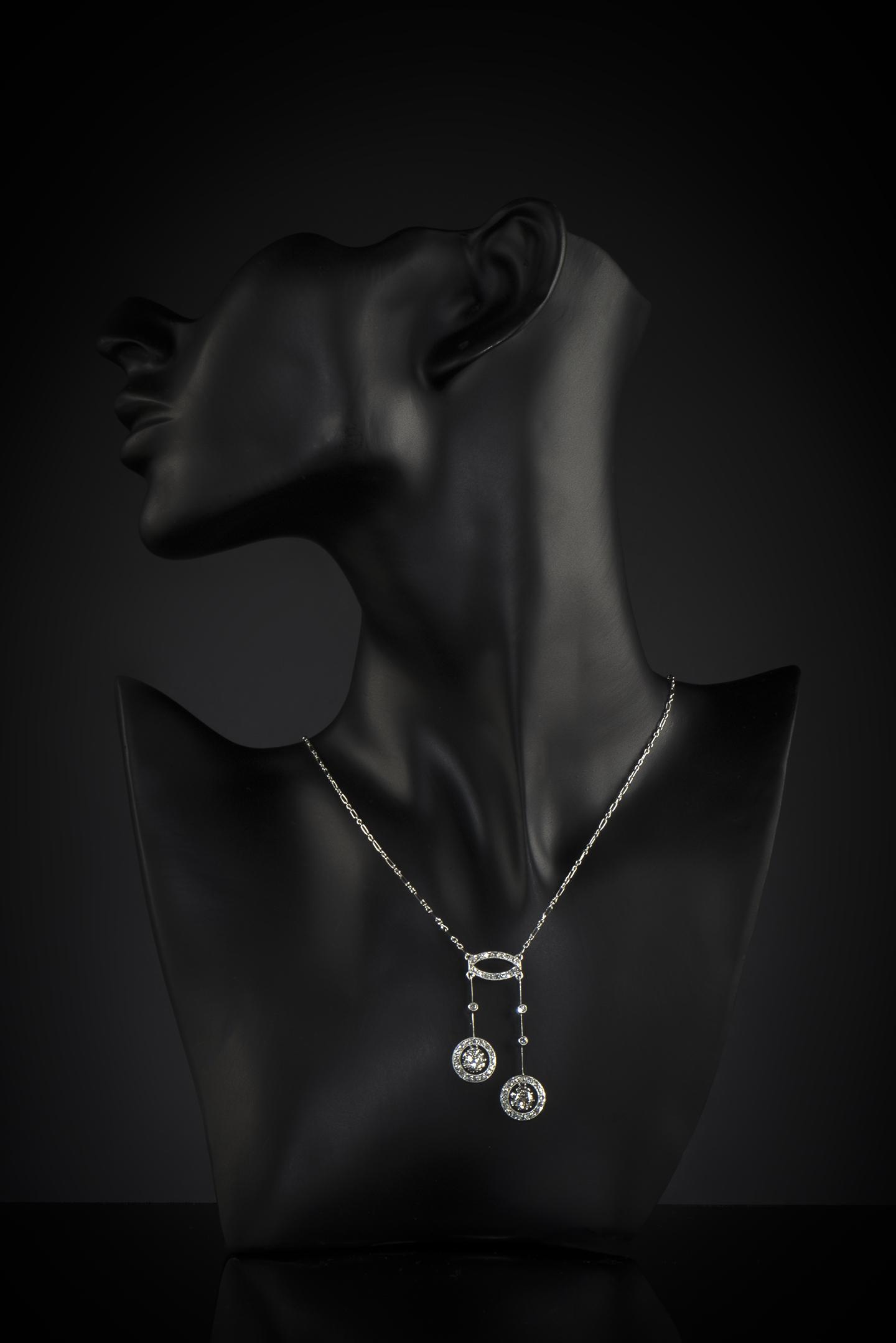 Collier dit négligé diamants Art Déco (vers 1930)-2