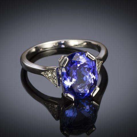 Bague tanzanite (3,30 carats) diamants