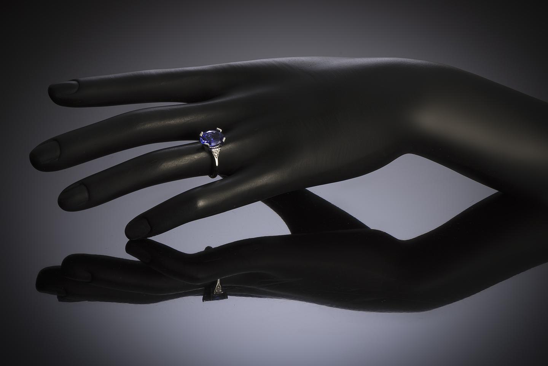 Bague tanzanite (3,30 carats) diamants-2