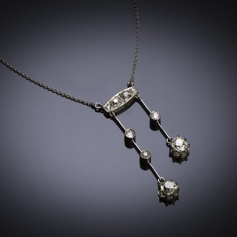 Collier dit négligé Art Déco diamants (1,60 carat)