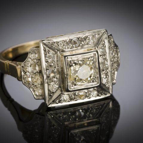 Bague diamants vers 1935 – 1940