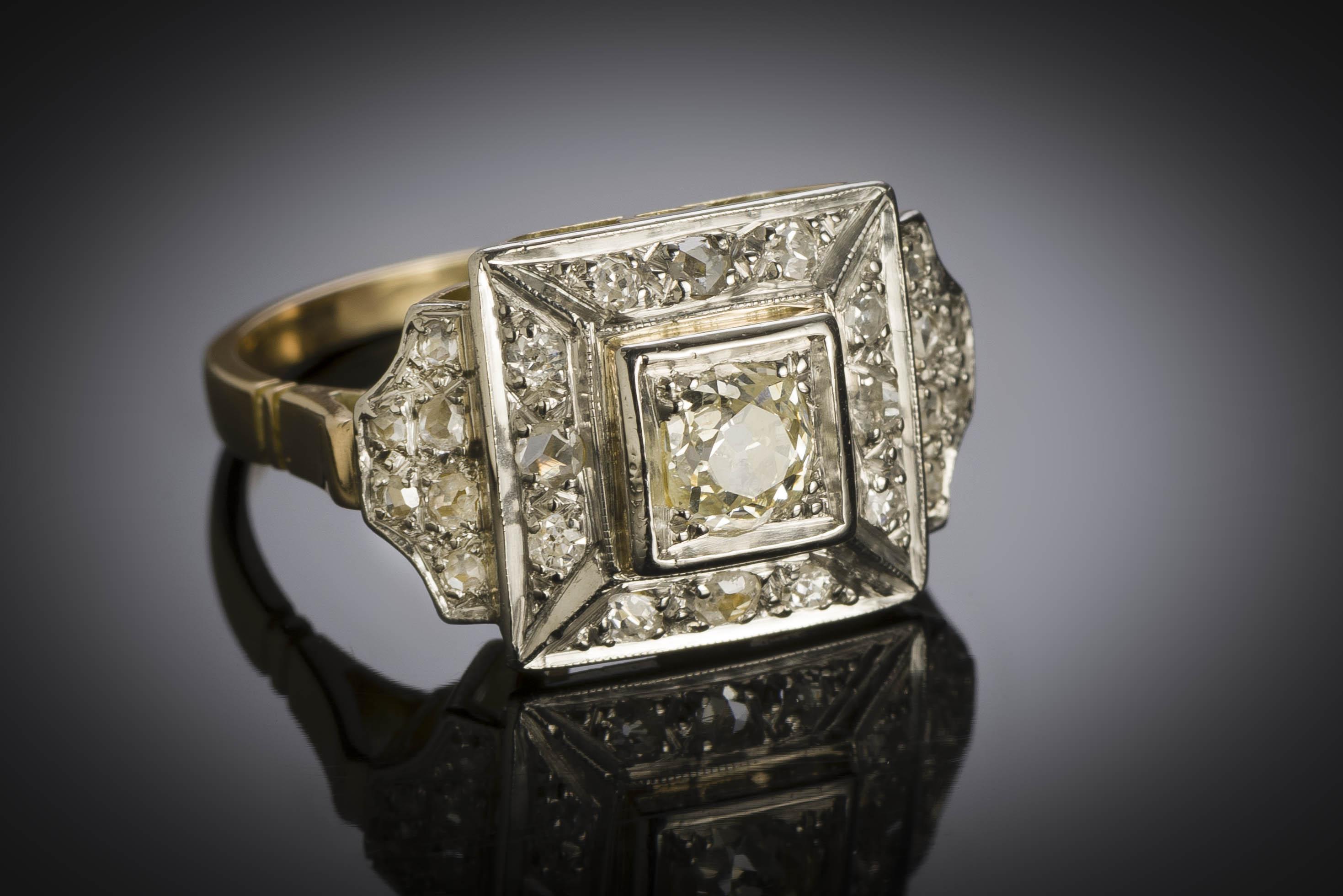 Bague diamants vers 1935 – 1940-1