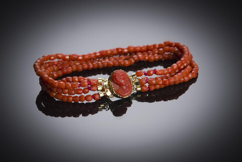 Bracelet corail vers 1819 – 1838 (poinçon bélier)-1