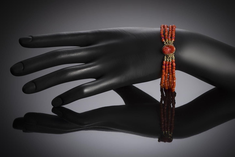 Bracelet corail vers 1819 – 1838 (poinçon bélier)-2