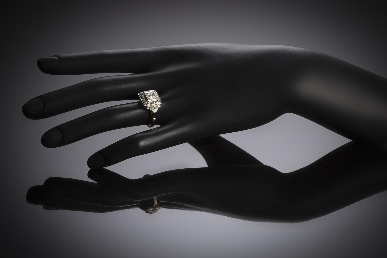 Bague diamants vers 1935 – 1940-2