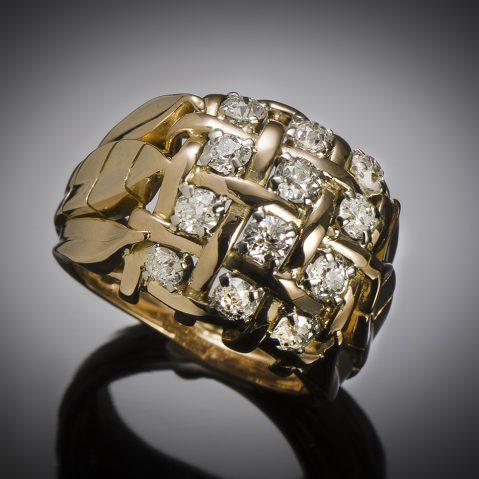 Bague diamants vers 1940 – 1950