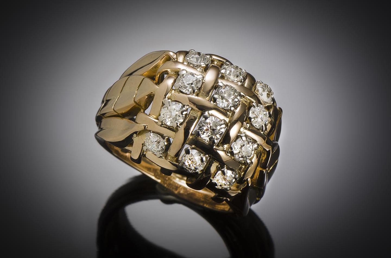 Bague diamants vers 1940 – 1950-1
