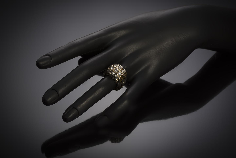 Bague diamants vers 1940 – 1950-3