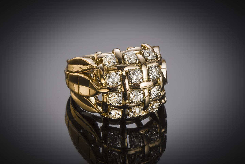 Bague diamants vers 1940 – 1950-2