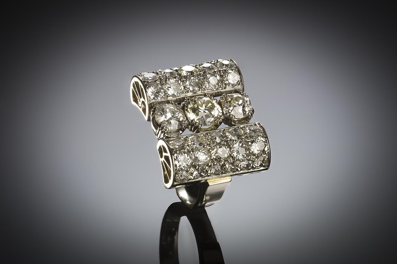 Bague Art déco diamants (4,50 carats)-2