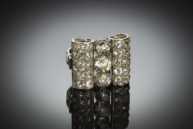 Bague Art déco diamants (4,50 carats)-1