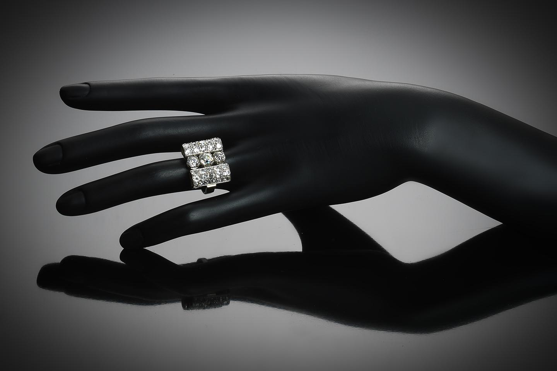 Bague Art déco diamants (4,50 carats)-3