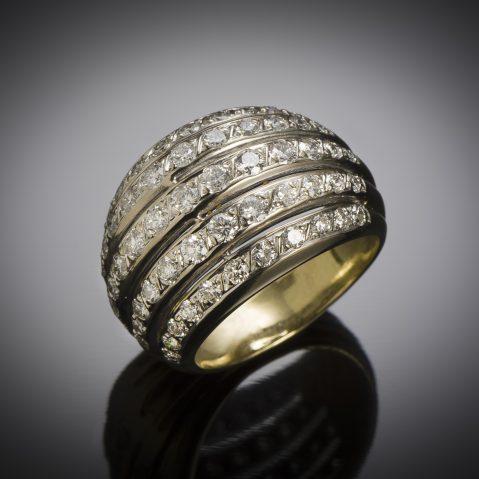 Bague boule vintage diamants (2,80 carats)