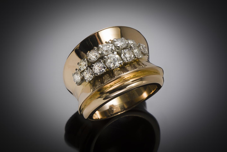 Bague diamants (1,10 carat) vers 1940 – 1950-1