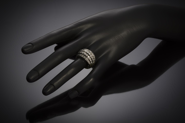 Bague boule vintage diamants (2,80 carats)-3