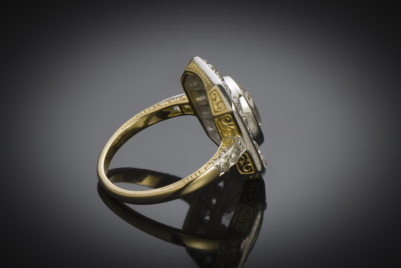 Bague diamants (3,30 carats, centre de 2,30 carats) vers 1920-3